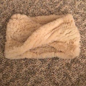 Jocelyn Cowl Rabbit Fur Infinity Scarf
